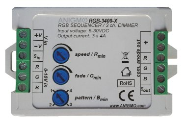 RGB color Changer / sequencer + 3 channel dimmer, Anigmo Online Store